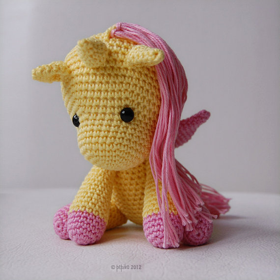 Crochet Unicorn : Amigurumi Pattern - Peachy Rose The Unicorn on Luulla