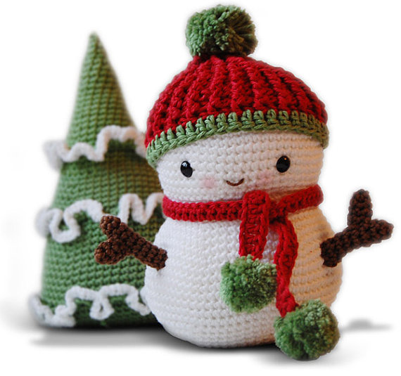 Amigurumi Pattern - Frosty The Snowman And Christmas Tree ...